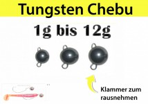 Tungsten Cheburashka Schwarz Bottom-Jig, Flex-Head (5 PCS)