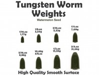 Tungsten Bullet Weight (5 Stück) Watermelon Seed