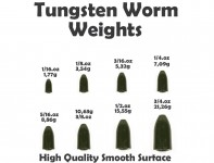 Tungsten Bullet Weight (5 Stück) Saphire Pumpkin